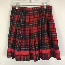 Pendelton Red Plaid Wool Wrap Skirt Sz XS?