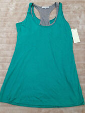 BNWT Corey Lynn Calter Double Layer Tank Size Large Green/Grey