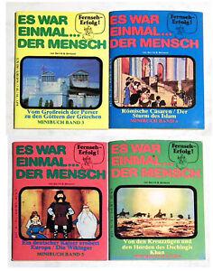 ES WAR EINMAL...DER MENSCH Minibuch Bände 3,4,5,6 . 4 Hefte aus 1980 TOP