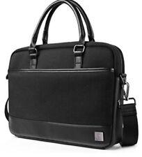 WIWU 15.6 Inch Laptop Shoulder Bag,Leather Messenger Bag Briefcase Black