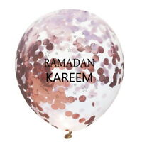 "10X 12"" Eid Mubarak Confetti Letter Moon Latex Balloon Ramadan Party Decor"