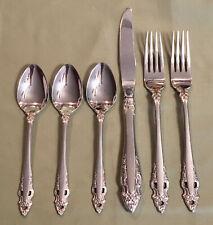 New listing Gorham Pierced Baroque Stainless Flatware 3 Tsp, 2 Dinner Forks, 1 Dinner Knife