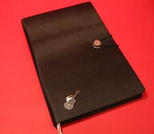 Guitar & Cowboy Hat A5 Black Note Book Journal Line Dancing Country & Western