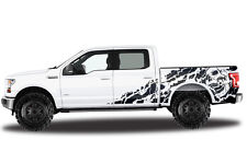 Vinyl Decal Graphics Wrap for 15-17 Ford F-150 Nightmare BLACK SuperCrew 5.5 Bed