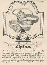 Y6535 ALPINA Uhren -  Pubblicità d'epoca - 1927 Old advertising