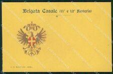 Militari 11º 12º Reggimento Fanteria Brigata Casale cartolina XF0033
