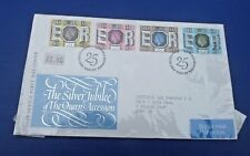 SILVER JUBILEE THE QUEENS ACCESSION     FIRST DAY COVER