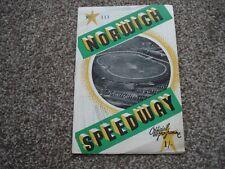 * Norwich V Swindon 11/4/64 Speedway programme