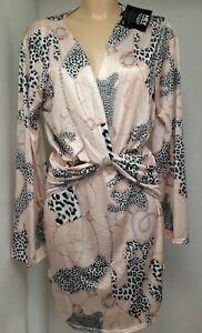 Nelly.com Pink Print Flowy Sleeve Dress  Size S/M/L/