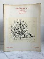 Catalogue Di Vendita Libreria L.L Libri Del Ventesimo Siècle 18 Novembre 1968