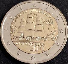 2 EUROS ESTONIA 2020 CONMEMORATIVAS *Descubrimiento Antártida* Sin Circular