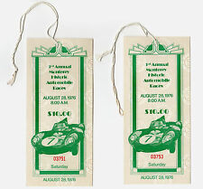 (2) TICKETS for 3rd ANNUAL MONTEREY HISTORIC AUTOMOBILE RACES  LAGUNA SECA 1976