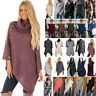 Womens Pullover Jumper Sweater Irregular Poncho Cape Tops Coat Cardigans Outwear