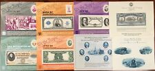 United States BEP B 110-112,114-5 Souvenir Cards, ABN SO54,58-59 1987 Mint