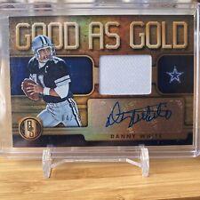 Danny White 2019 Panini Gold Standard AUTO GOOD AS PATCH #'d 4/49 Dallas Cowboys