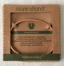 Mantraband Mantra Band Forever Family Rose Gold Tone Bracelet NEW