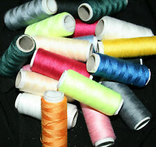 SEWING THREAD POLYESTER 6 x 182 metres random mixed colors Dressmaking & Repairs
