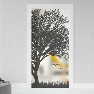 Glastür Aufkleber Sichtschutz Folie Milchglasfolie Glasdekor selbstklebend 083