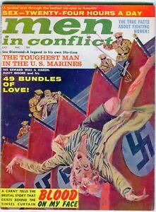 MEN in CONFLICT   October 1962  Nazi cover Men's Adventure Pulp Scarce.