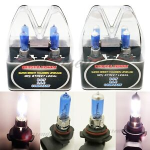 Box 9005 9006 100W White Halogen 5000K Xenon Headlight #Nt5 Bulb High Low Beam