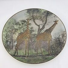 Royal Doulton Translucent China African Series Giraffes Tc 1055 Collector Plate