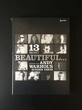 13 MOST BEAUTIFUL... - ANDY WARHOL Screen Tests - DVD - TBE