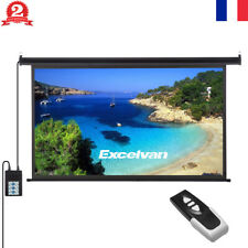 100-inch 16:9 Écran de projection motorisé toile de videoprojecteur Télécommande
