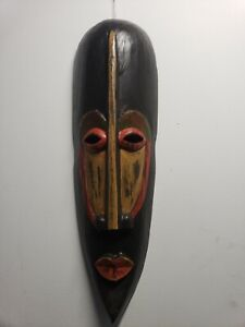 Hand Carved Wood Indonesian Wall Mask