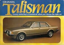 Ford Granada Talisman Mk2 Limited Edition 1981 UK Market Sales Brochure 2.0 2.3