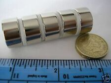 "2 of 3/4"" x 3/8"" Strong Neodymium Magnets Powerful Rare Earth Round 19mm 10mm"