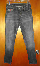 """CITIZENS of HUMANITY WOMENS Skinny Black Jeans w/ Native AM Design  SZ: 28"""" NWOT"""