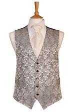Mens e da PAGGETTO argento motivo cachemire Vestito da MATRIMONIO GILET
