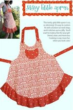 Sassy Little Apron Pattern, Cabbage Rose, DIY Sewing, Barbara Brandeburg
