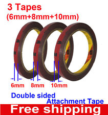 3M Genuine Automotive Acrylic Plus Double Sided Attachment 6mm+8mm+10mm Tape