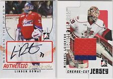 07-08 ITG Between The Pipes Linden Rowat Autograph
