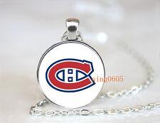 Montréal Canadiens hockey NHL Glass Cabochon Chain Pendant Necklace Fashion