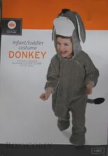 Halloween Infant Toddler Gray Donkey Jumpsuit Costume Size 6-12 months NWT