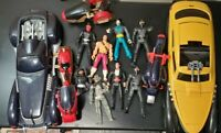 HUGE LOT Vintage 1994 Kenner The Shadow Action Figures and Vehicle Loose