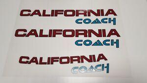 Aufkleber California Coach farbig