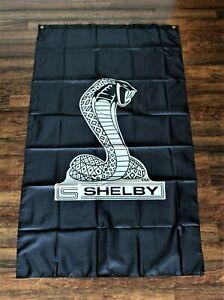 Cobra Banner Flag Ford Mustang Shelby SVT Automobile Racing Snake Logo 3x5 New
