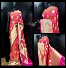 Latest Banarasi Pure Georgette Silk with Contrast Pallu/Blouse Saree