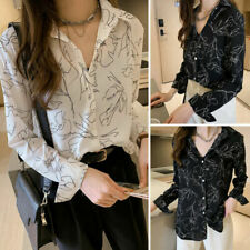 Button-Down Long Sleeve Plus Size Tops & Shirts for Women