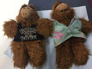 1988 Burger King ALF Alien Plush Hand Puppet Dolls Vtg Lot of 2 stuffed toy