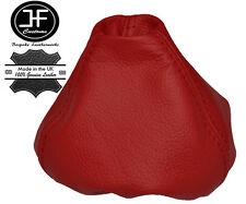 DARK RED LEATHER MANUAL GEAR STICK GAITER SHIFT BOOT FOR FIAT 500 ABARTH 07-2015