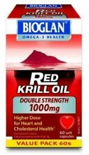 Bioglan Red Krill Oil Double Strength 1000mg Capsules - 60 Count
