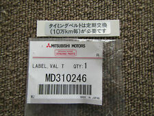MITSUBISHI LANCER EVO5 EVO6 CP9A STICKER TIMING BELT SERVICE JAPANESE MD310246