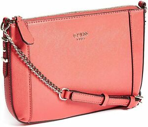 GUESS NEW WOMEN'S Kamryn Saffiano Crossbody Handbag