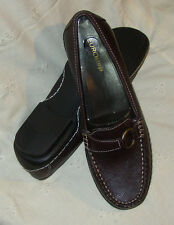 8 eurostep  ~ dark espresso brown leather loafer ~ casey ~ 8 M ~ new