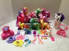 MY LITTLE PONY ASSORTED LOT OF 11 PONIES, PLUSH TY RARITY, & ACCESSORIES