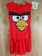 ANGRY BIRDS Costume Girls SMALL 4-6 Red Dress Sleeveless Halloween